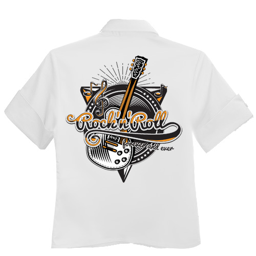 Rock'n'Roll Workshirt - White
