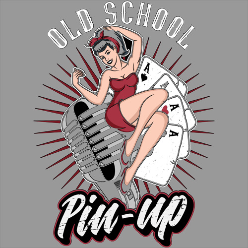 Old School Pinup Workshirt - Grey