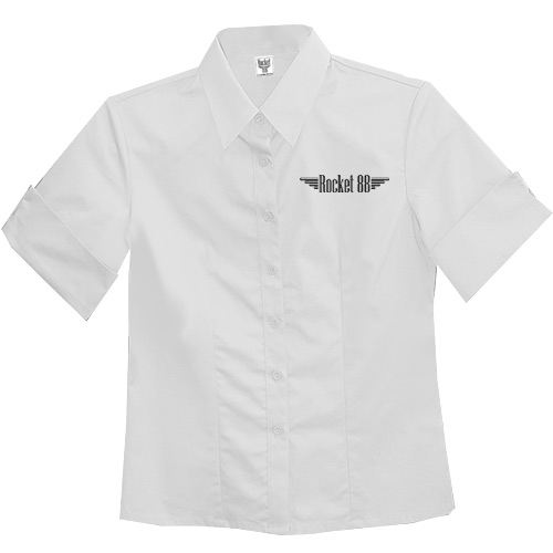 Old School Pinup Workshirt - White